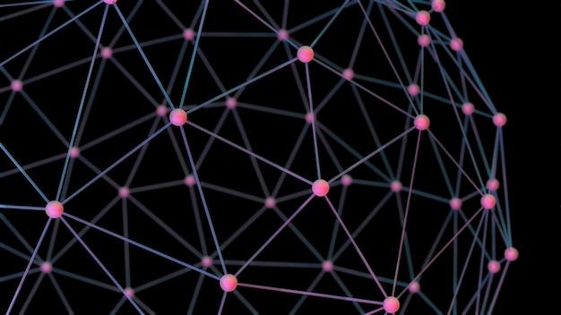 Sieć globalna z połączonymi węzłami.