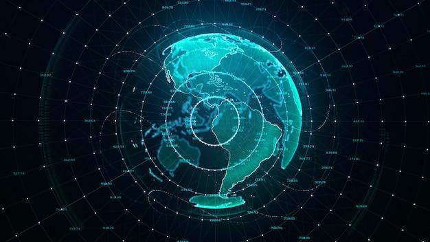 Sieć kodów binarnych danych technologicznych przenoszących łączność, złożoność i zalew danych współczesnej ery cyfrowej
