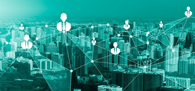 Sieć osób i globalna koncepcja kreatywnej komunikacji
