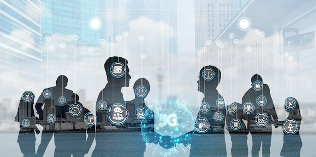 Sieć osób i koncepcja komunikacji międzynarodowej.