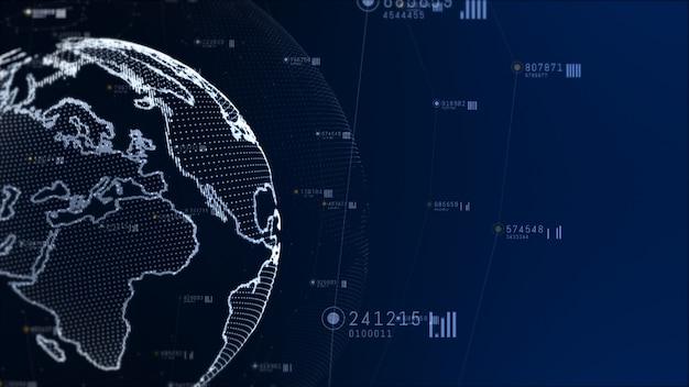 Sieć technologiczna i połączenie danych.