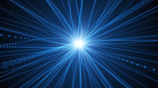 Sieci neuronowe łączą linie komunikacyjne jako połączenie danych w centralnym mózgu