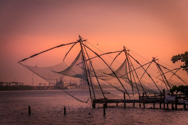 Sieci rybackie w kerala south india