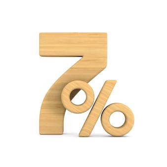 Siedem procent na białym