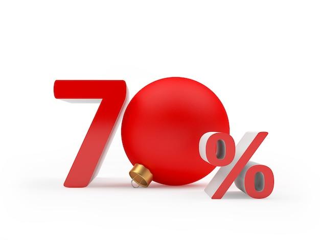 Siedemdziesiąt procent zniżki z bożonarodzeniową kulą