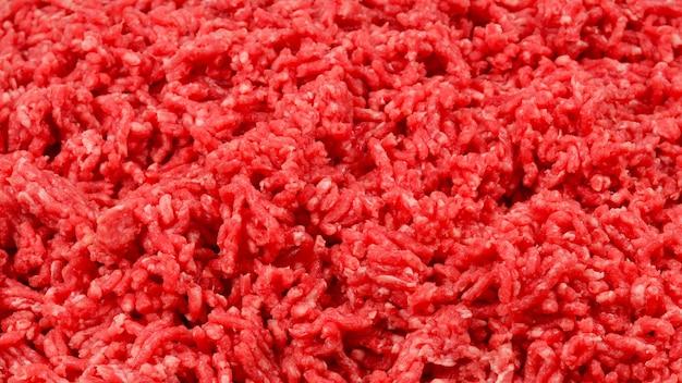 Siekana ściana mięsa.