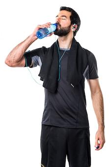 Siła sportowiec atletyczny człowiek sody