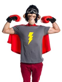 Silny człowiek superbohatera małpy
