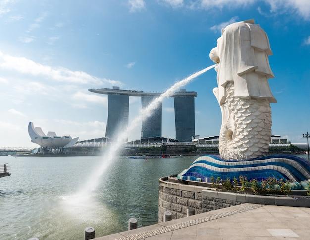 Singapur punkt orientacyjny merlion