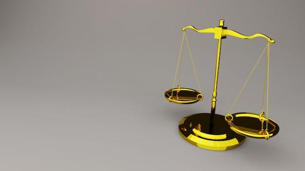 Skale sprawiedliwości prawo skaluje renderowanie 3d