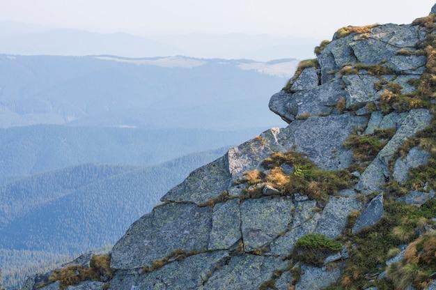 Skalista część góry
