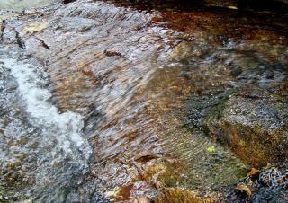 Skalista tło stream
