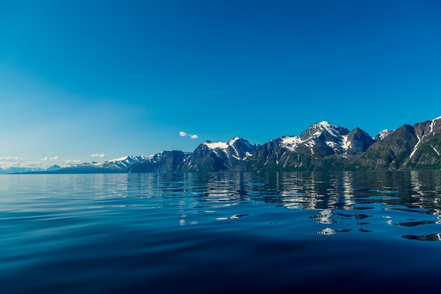 Skały sognefjordu, trzeci najdłuższy fiord na świecie i największy w norwegii.