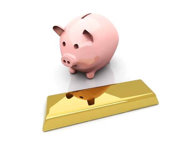 Skarbonka oszczędzająca złoto