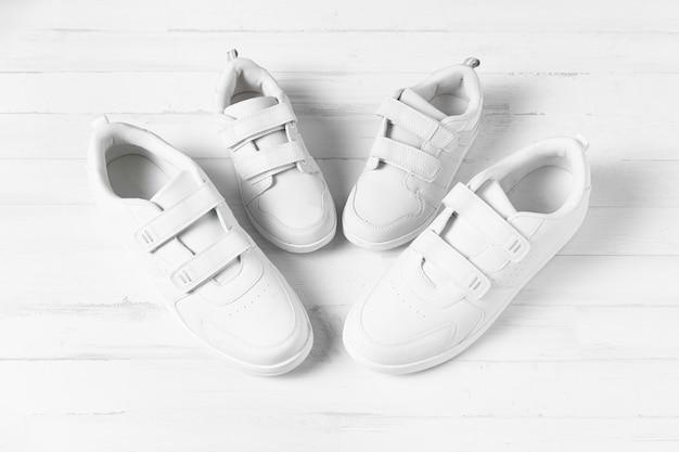 Skład butów ojca i syna