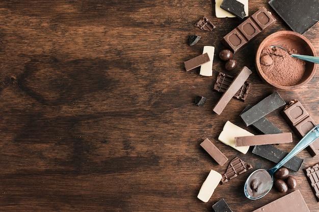 Skład czekolady z copyspace