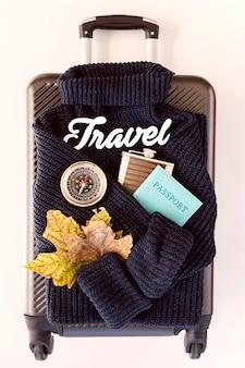 Skład elementów podróży na bagażu