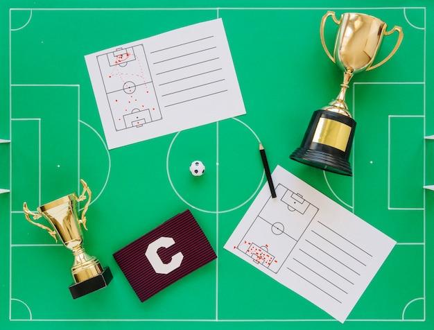 Skład koncepcja piłki nożnej