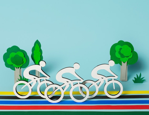 Skład kształtów igrzysk olimpijskich w stylu papieru
