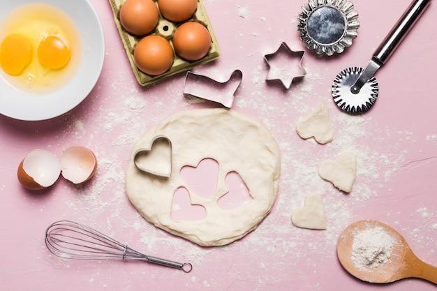 Skład piekarni z ciastem
