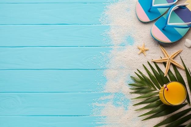 Skład płaski koncepcja świeckich plaży