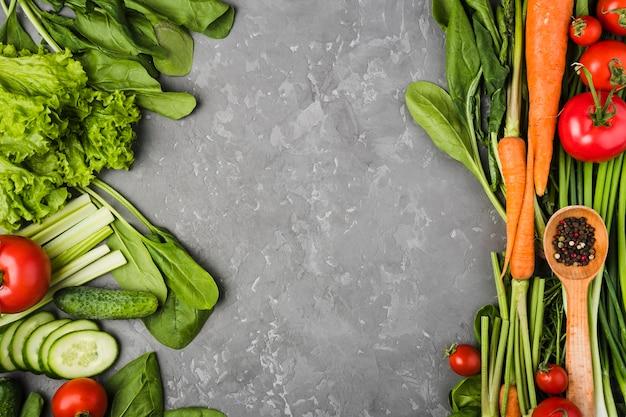 Skład Płaski świeckich Warzyw Z Copyspace Darmowe Zdjęcia
