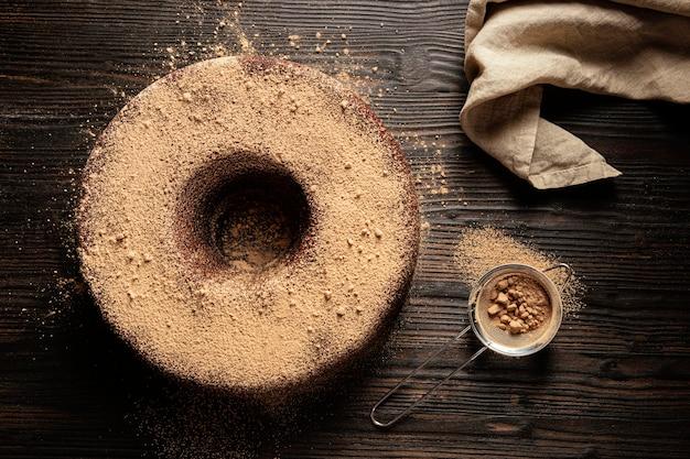 Skład pysznego ciasta czekoladowego