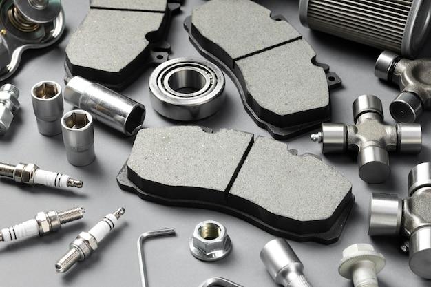 Skład różnych akcesoriów samochodowych