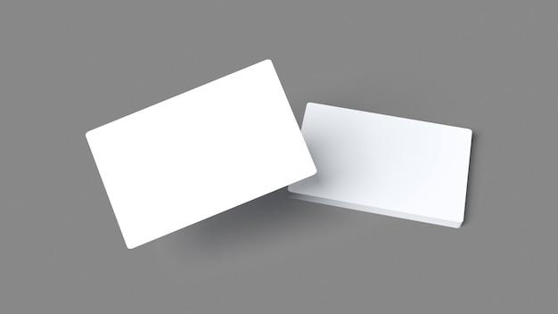Skład wizytówek na białym tle