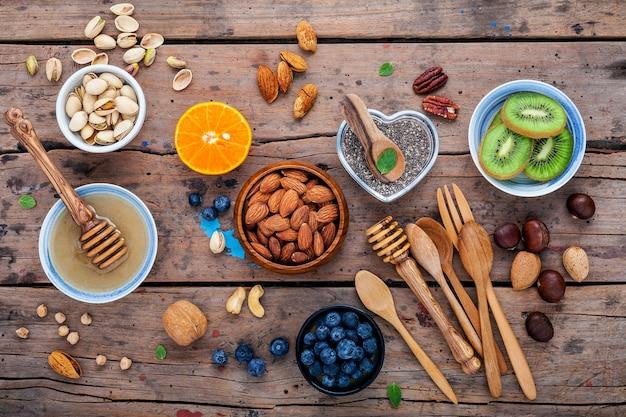 Składniki dla zdrowych foods na białym tle.