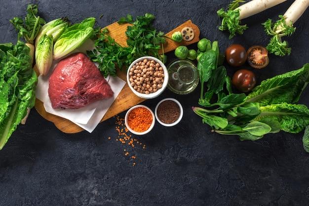 Składniki do gotowania zbilansowanego żywienia i zdrowej diety