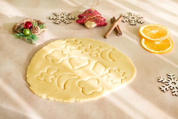 Składniki do pieczenia świąteczne ciasteczka i pierniki