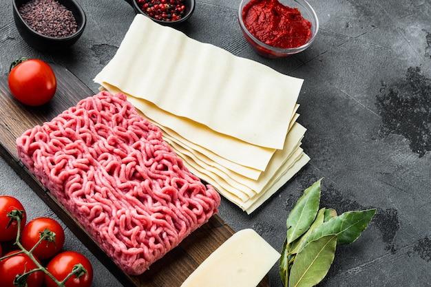 Składniki do przygotowania lasagne