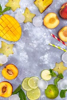 Składniki na letnie napoje owocowe