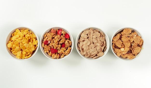 Składniki śniadaniowe zdrowej diety