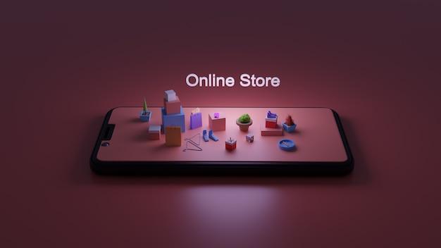 Sklep internetowy smartfonów 3d. marketing cyfrowy
