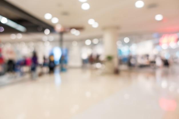 Sklepy w centrum handlowym rozmytą