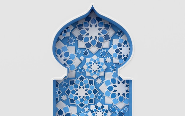Skomplikowane arabskie islamskie gwiazdy okienne