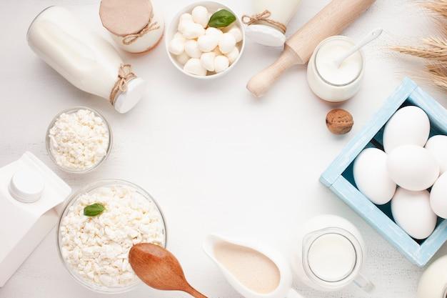 Skopiuj miejsce z pysznymi produktami mlecznymi