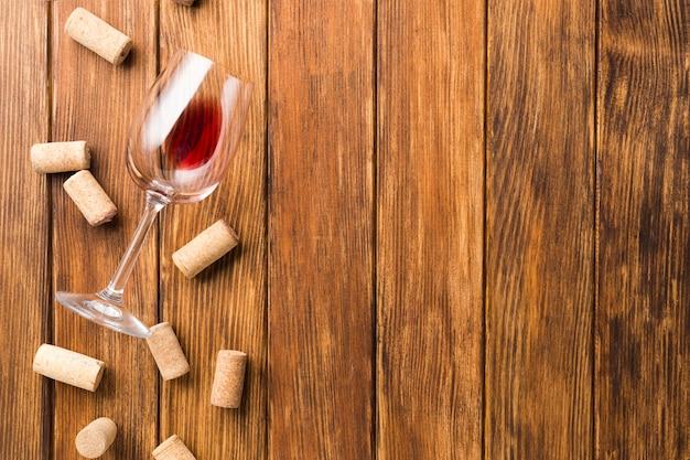 Skopiuj tło drewniane z korkami
