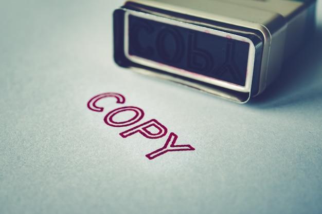 Skopiuj znaczek na koncepcji papieru.