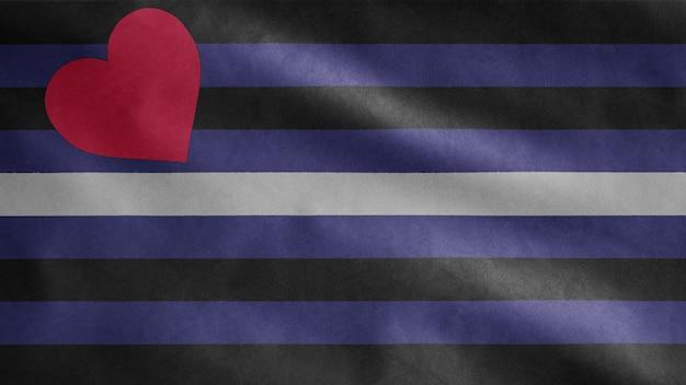 Skórzana flaga dumy powiewająca na wietrze. baner bdsm dmuchający miękki jedwab