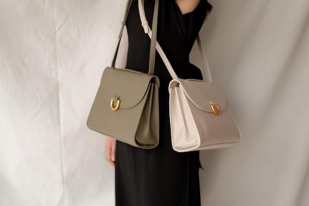Skórzana torba moda kobieta