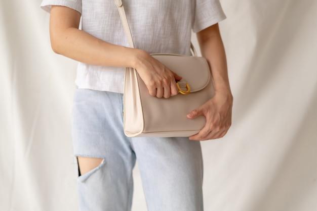 Skórzana torebka damska