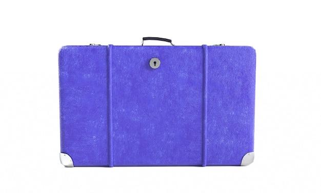 Skórzana walizka, renderowanie 3d na białym tle