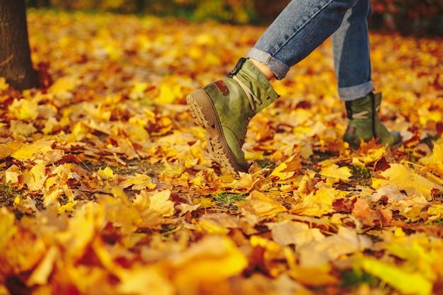 Skórzane buty na jesienne liście outdoor