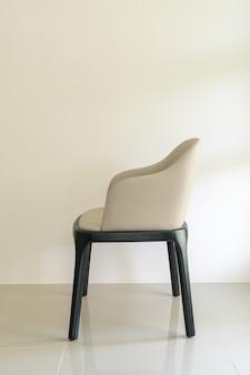 Skórzane krzesło do jadalni ze ścianą