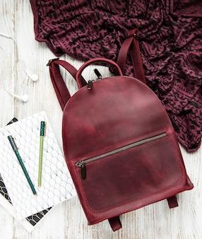 Skórzany plecak dla kobiet