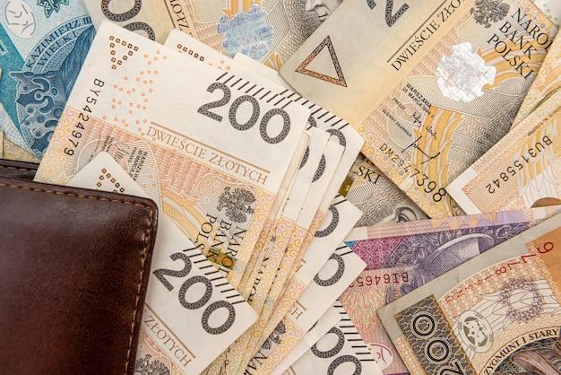 Skórzany portfel z kalkulatorem na banknoty złotówki. zaplecze biznesowe
