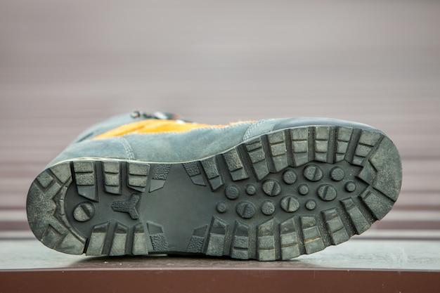 Skórzany trekkingowy zimowy trekking na niewyraźne buty